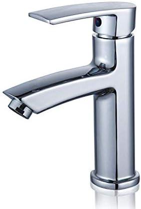 CHENBIN-BB バスルームのシンクは、スロット付き浴室の洗面台のシンクホットコールドタップミキサー流域の真鍮シンクミキサータップ非震とう浴室蛇口単穴温水と冷水の蛇口をタップ