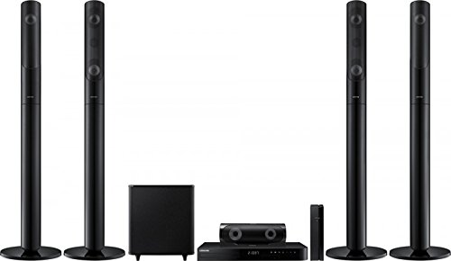 Samsung HT-J5550WK Smart Bluetooth Multi Region Free 5.1-Channel Home Theater Wireless Speaker System w/ Free HDMI Cable, 110-240 Volt
