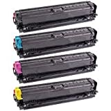 Ink Now Premium Compatible Combo Pack (all colors) for HP Toners CE740A,CE741A,CE742A,CE743A for Color LaserJet Professional CP5220, CP5225, CP5225DN, CP5225N printers
