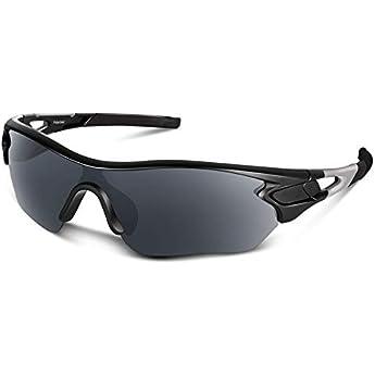 5e22b4adf38 Polarized Sports Sunglasses for Men Women Cycling Running Driving Fishing  Golf Baseball Motorcycle Glasses (Matte