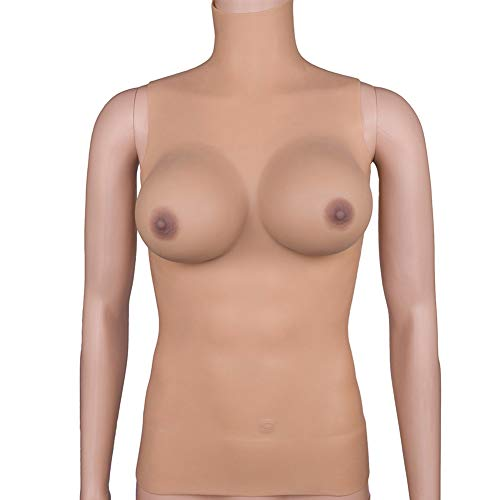 Integrated Fake Breast Back Zipper Change Solid Breast