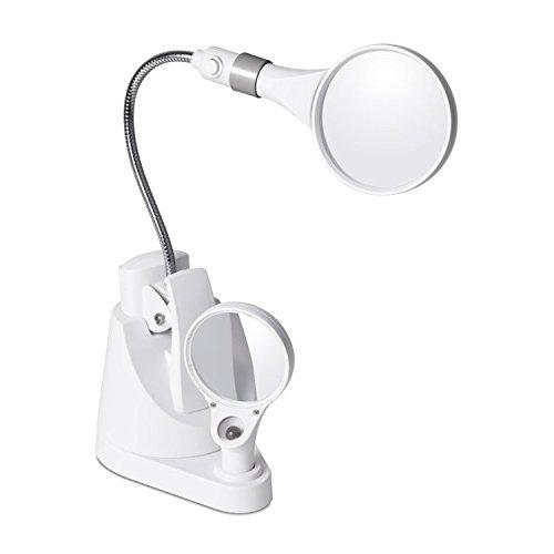 OttLite Desk Lamp White 19000C-EURP LED Clip and Freestanding Magnifier by Ott-lite