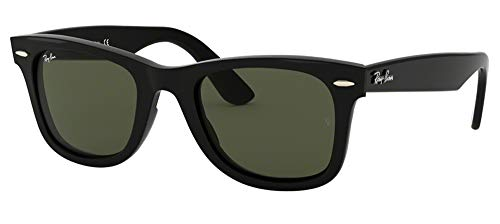 Ray-Ban RB4340 WAYFARER 601 50M Black/Green Sunglasses For Men For Women (Ray Ban Sunglasses For Men In Pakistan)