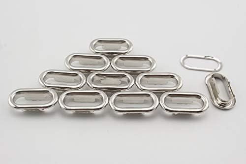 鉄製 楕円形 ハトメ アイレット 鳩目 座金付き 穴径19mm 40個入り ニッケル D65