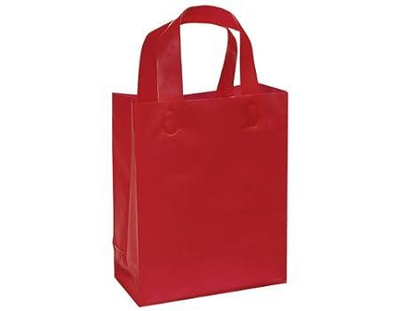 Amazon.com: Bolsas de regalo de plástico esmerilado con asa ...