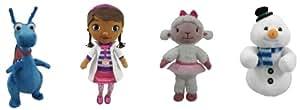 """Disney Doc McStuffins 8"""" Mini Beanbag Plush Complete Set of 4: Dottie; Lambie; Stuffy; Chilly"""