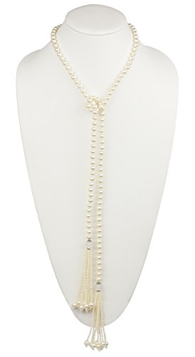 HinsonGayle AAA 7-7.5mm Freshwater Cultured Pearl Tassel Lariat Sautoir Necklace-44 in length by HinsonGayle Fine Pearl Jewelry (Image #7)