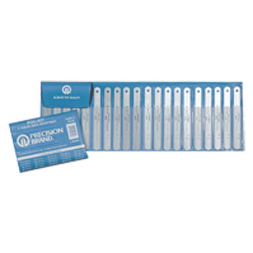 Stainless Steel Feeler Gage Assortment - 0.001