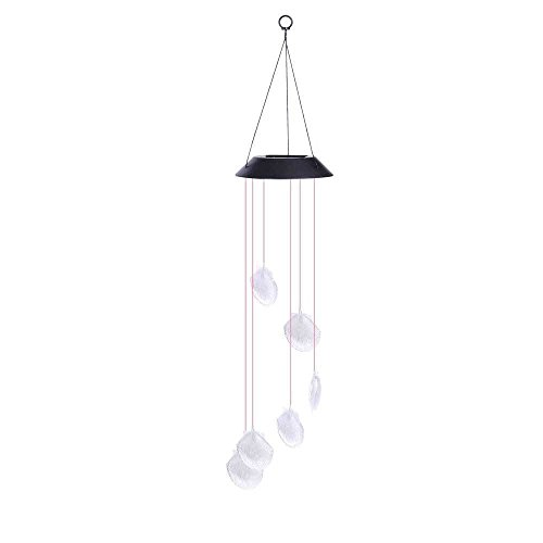 Solar Power Color Changing LED Shell Wind Chimes Home Garden Decor Light Lamp - Thousand Store Oaks Frame