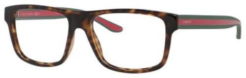 Optical frame Gucci Acetate Havana - Green (GG 1119 - Mens Eyewear Gucci
