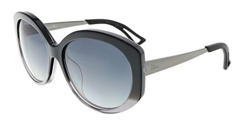 Christian Dior Extase/F/S Sunglasses Black Gray Ruthenium / Gray Gradient