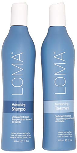 Loma Hair Care Moisturizing Shampoo Moisturizing Treatment Duo, 12 oz.