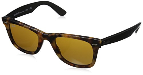 Ray-Ban Men RB2140 1187 Original Wayfarer Distressed Sunglasses Black/ Brown 50mm (Ray-ban Rb2140 50 Original Wayfarer)