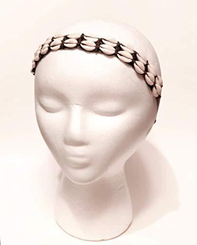 Double Cowrie Shell Adjustable Headband, Natural Hair Accessory, Women Hair Accessory, Seashell Headband, Cowry Hair Accessory