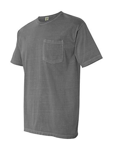 Comfort Colors Men's Adult Short Sleeve Pocket Tee, Style 6030, Grey, Medium