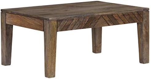 Goedkoop Aanbevelen Tidyard salontafel | Ingangstafel | bijzettafel mangohout massief 88 x 60 x 40 cm YztOLpR