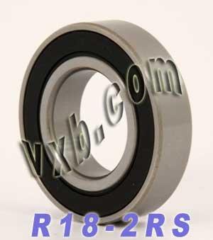 R18-2RS Sealed Bearing 1 1//8 x 2 1//8 x 1//2 inch Ball Bearings