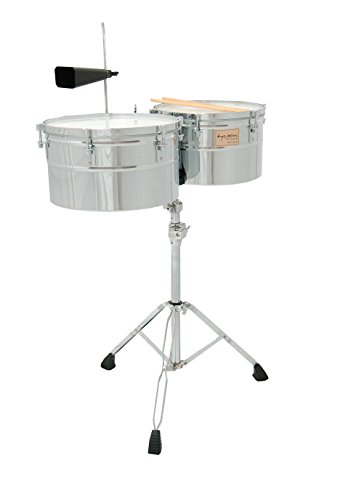 Tycoon Percussion 14 Inch & 15 Inch Deep-Shell Timbales - Chrome Finish by Tycoon Percussion