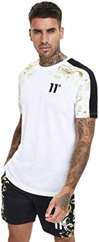 Eleven Degrees Printed Contrast Camiseta Hombre - algodón: Amazon.es: Ropa y accesorios