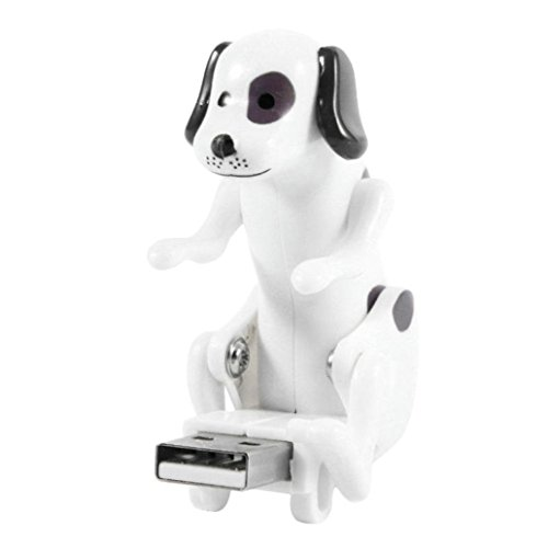 Dog Spot Usb - Livoty USB Flash Drives Toy,Funny Cute USB Pet Humping Spot Dog Toy Relief Stress Atmosphere to The Boring Office Life Gift (White)[No Storage]