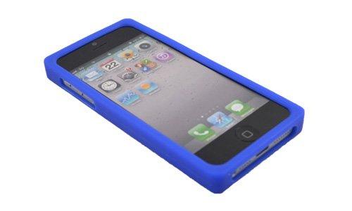 Back Cover für iPhone 5 5G Spielkonsolen Case Silikon Schutz Hülle Blau #YXJ