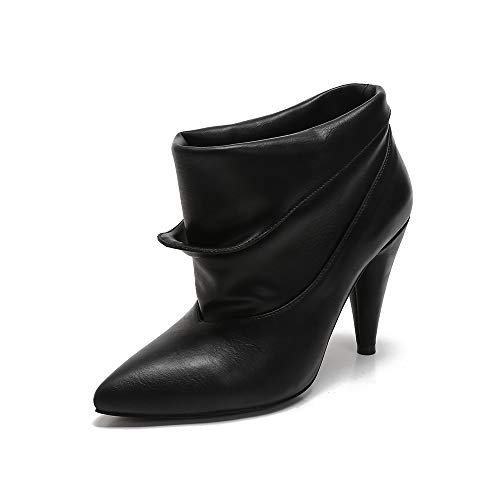 MACKIN J 239B-9 Womens Slouch Ankle Boots Retro Folded (6, Black)