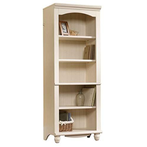 Sauder Harbor View Library, Antiqued White finish (Thin Bookshelves)