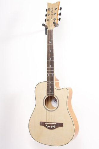 Daisy Rock Wildwood Short Scale Acoustic Guitar Bleach Blonde 886830789687 by Daisy Rock
