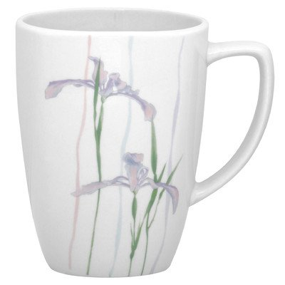 Corelle Square 12-Ounce Porcelain Mug, Shadow Iris (Corelle Cups Mugs compare prices)