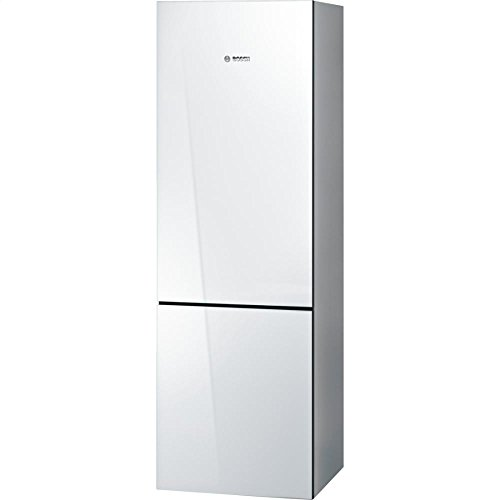 """B10CB80NVW 24"""""""" 800 Series Energy Star Qualified Counter Depth Bottom Freezer Refrigerator with 10 cu. ft. Capacity Spill-Proof Glass Shelves HydroFresh Drawer and Glass Door in White"""