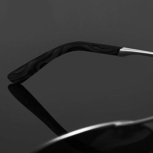 de de C Marco Metal polarizado Gafas Aviador UV400 protección Ligero Deportes Hombre C Peso Color Sol d1xaAZqwxz