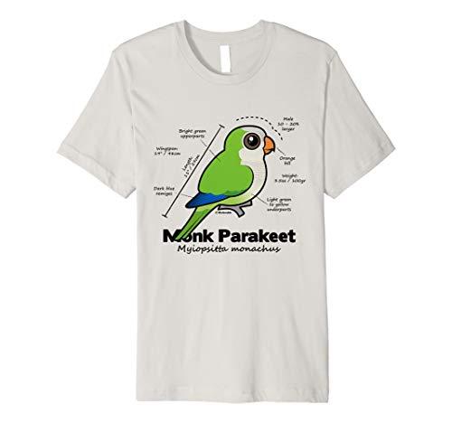 Cute Monk Parakeet Statistics   Quaker Parrot Birdorable Premium T-Shirt