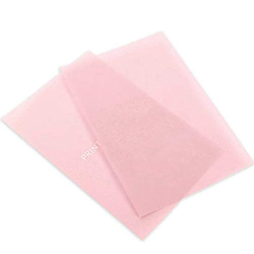 Printed Pink Translucent Vellum, 100 Pack by LCI Paper