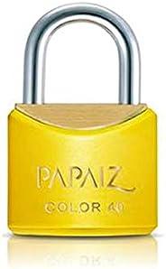 Cadeado Color Line, Papaiz, CR40, Amarelo