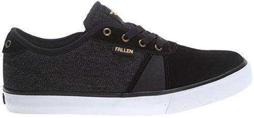 Fallen Men's Strike-M, Black/Denim/Gold, 9 M US