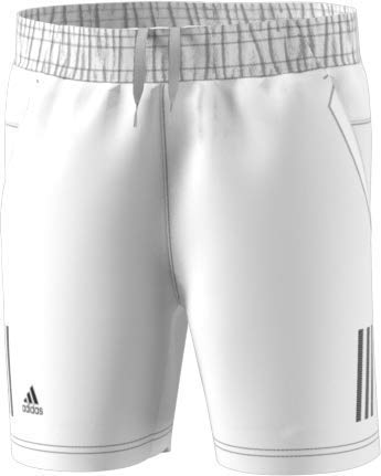 adidas 3-Stripes Tennis Short, White/Black, Medium ()