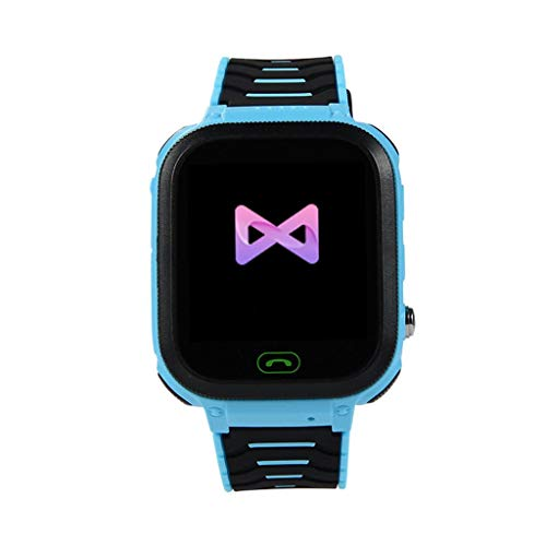 Rape Flower T18 Smart Watch Phone Kids Children Phone Watch for Android iOS IP67 Waterproof (Blue)