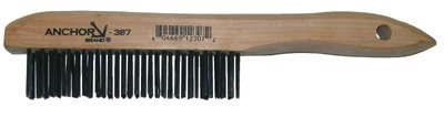 Shoe Wood Handle 4 X 16 Rows Stainless Steel Bristles 10 Pack Hand Scratch Brushes