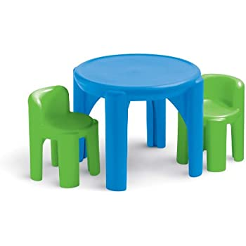 Amazon.com: Little Tikes Bright \'n Bold Table & Chairs, Green/Blue ...