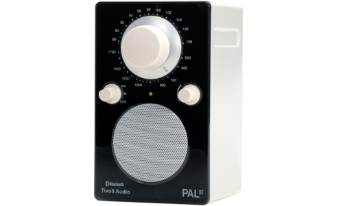 Tivoli Audio PALBTGBLK PAL BT Bluetooth Portable AM/FM Radio (High Gloss Black/White)