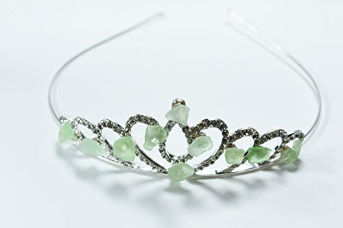 Shades of Aqua and Sea Foam Sea Glass Mermaid Princess Crown or Tiara