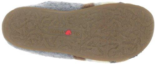 Haflinger Prisma Damen Flache Hausschuhe Grau (anthrazit 4)