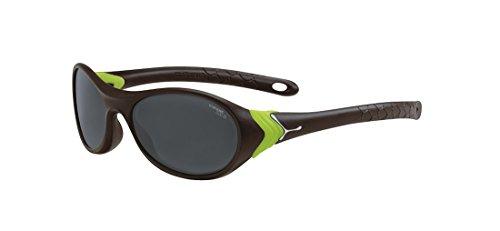 Cébé CRICKET Lunettes de soleil Cricket Matt Brown Neon Green 1500 Grey BL