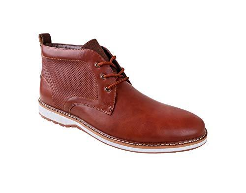 Ferro Aldo Men's Denver Ankle Boots | Lace Up | Mens Boots Fashion | Casual Fashion | Chukka Boots Men | Brown/White Sole 13