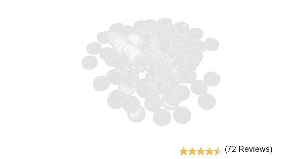 100 Piezas Claras Cápsulas De Monedas Contenedores Cajas Titulares Para Colecciones 25mm: Amazon.es: Juguetes y juegos