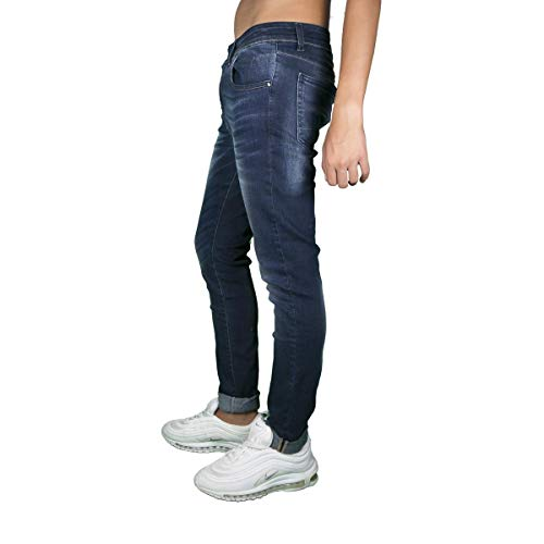 KLIXS Medium Jeans Denim Mike Fit 1154DL Blue Uomo Slim rpAnrfOH