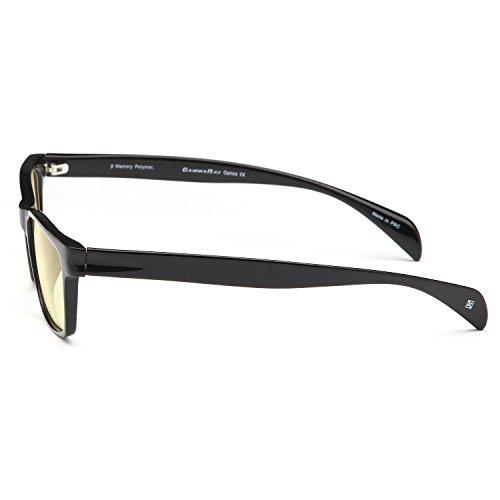 58641ef0ff6 GAMMA RAY 003 Comfortable Computer Readers Glasses for Reducing Harmful  Levels of Blue Light Screen Monitor Glare Anti Fatigue Reduces Eyestrain  from Video ...