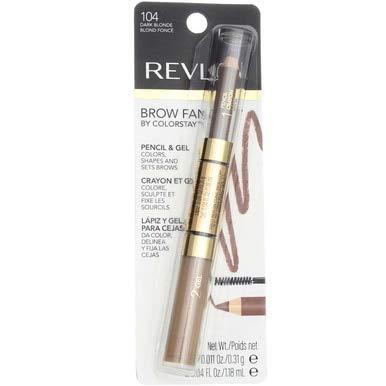 Revlon Brow Fantasy Pencil & Gel, Dark Blonde 104, 0.04 Ounce