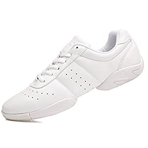 DADAWEN Women's Sport Training Cheerleading Shoes White US Size 10/EU Size 42