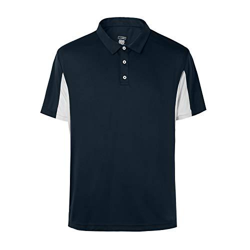 - MOHEEN Men's Short Sleeve Moisture Wicking Performance Golf Polo Shirt (Navy,XL)